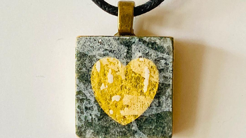 Heart Scrabble Tile Pendant