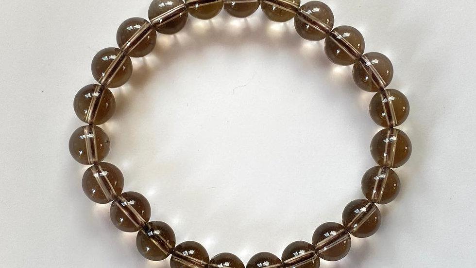 Smoky Quartz Bead Bracelet