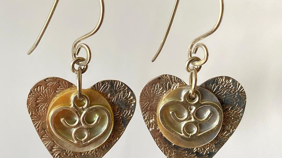 Hearts and Shell Earrings