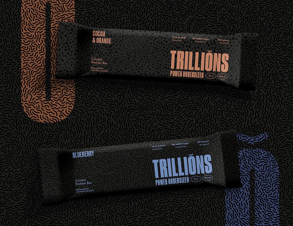 Trillions barritas con harina de grillo