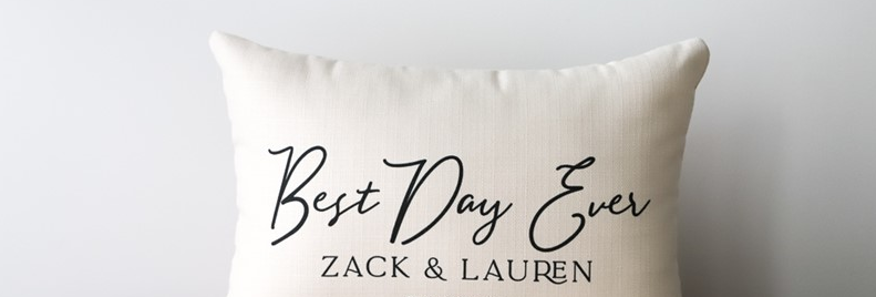 Best Day Ever Personalized Pillow