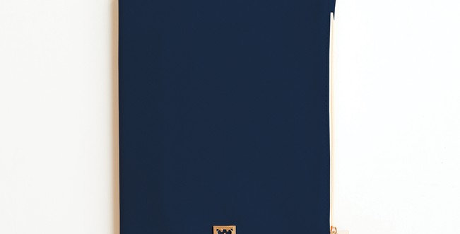 Zippered Vegan Leather Journal (Navy)