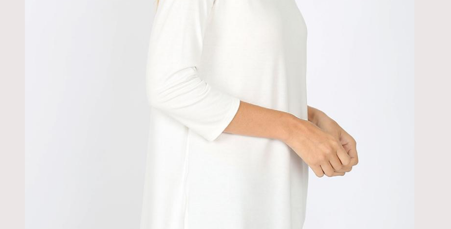 Single Shoulder 3 Button Top (Ivory)