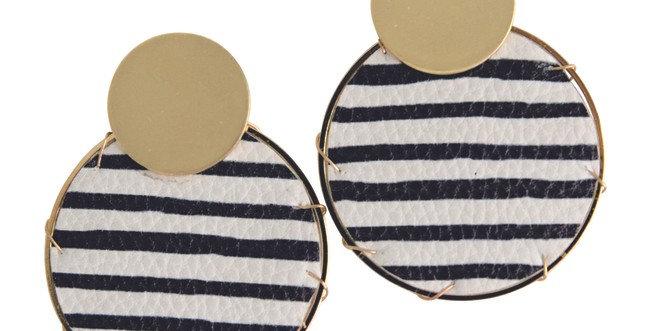 Lassen Earrings (Black Stripes)