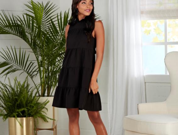 Bow Tie Dress - Black