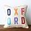 Thumbnail: Square Text Multicolor Pillow