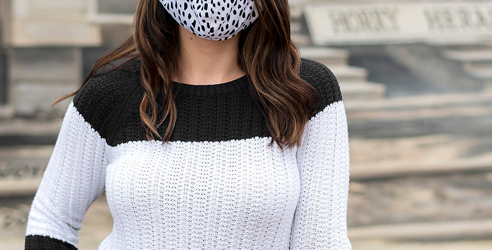 Black Spotted Face Mask