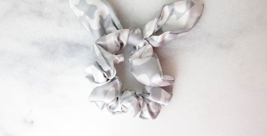 Wildly Wonderful Hair Scrunchie (Gray)