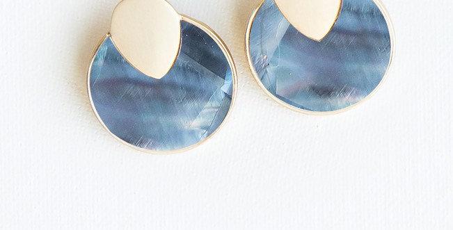 Annecy Earrings - Blue/Gray