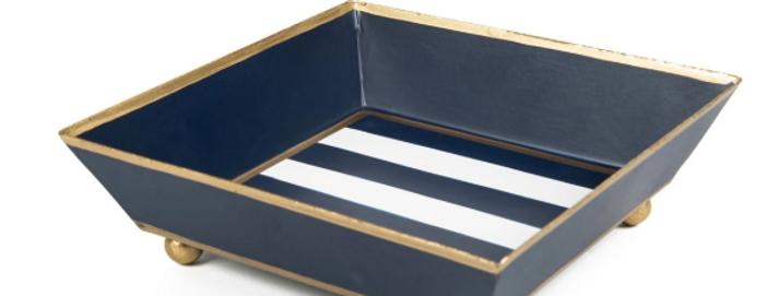 Napkin Tray - Navy Stripe