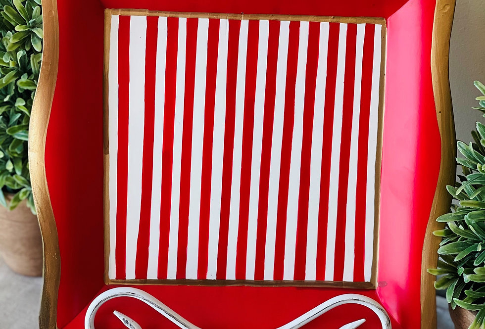 Red Stripe Social Tray