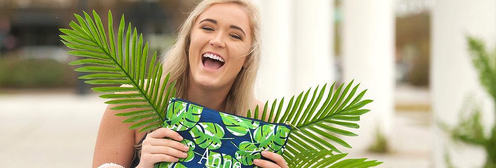 Palm Leaf Zip Bag