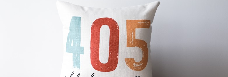 Poster Area Code Pillow