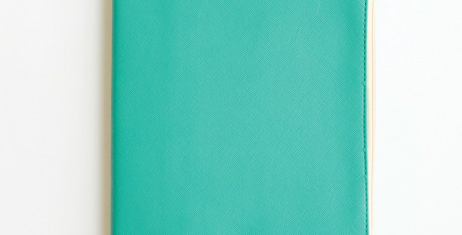 Zippered Vegan Leather Journal (Teal)