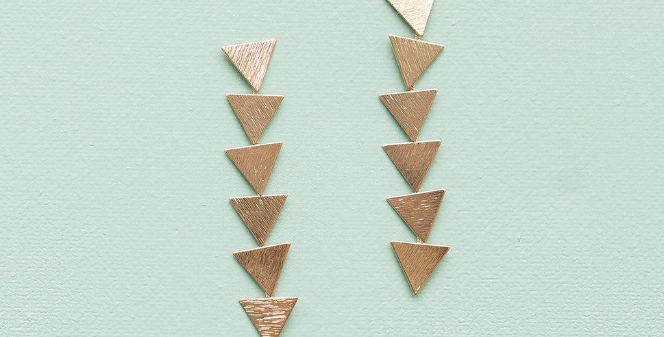 Triangle Drop Earrings - Gold