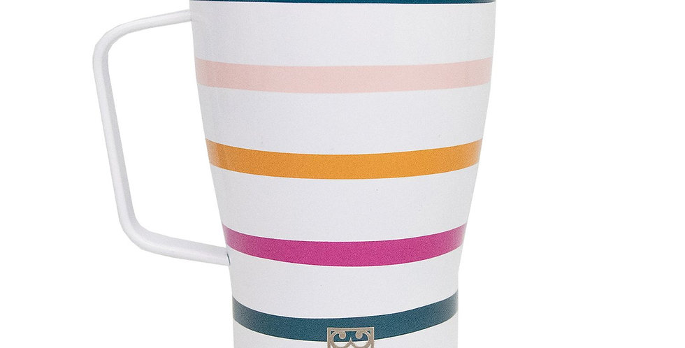 Stainless Curved Coffee Tumbler - Block Party