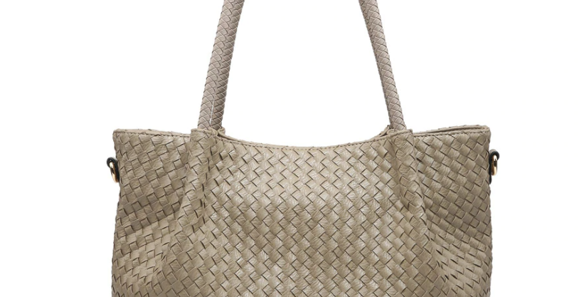 Textured Woven Purse (Stone)