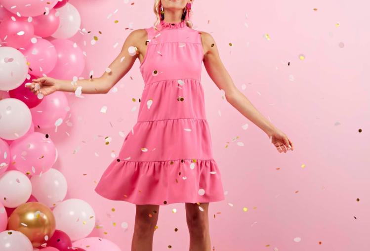 Bow Tie Dress -Pink