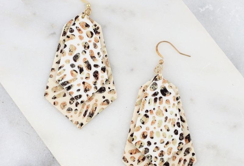 Animal Print Layered Earrings