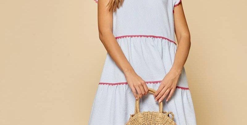 Pin Stripe Babydoll Dress