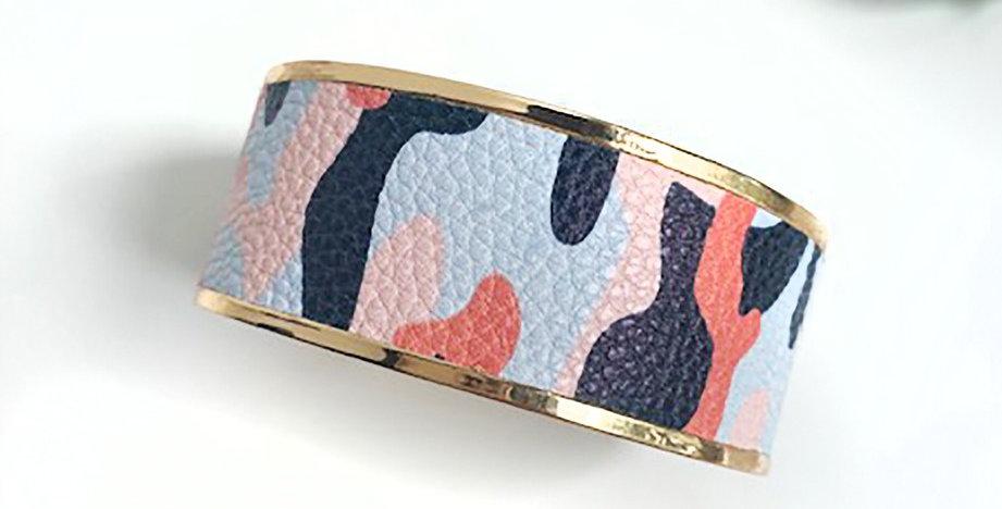 Monroe Cuff Bracelet (Navy Camo)