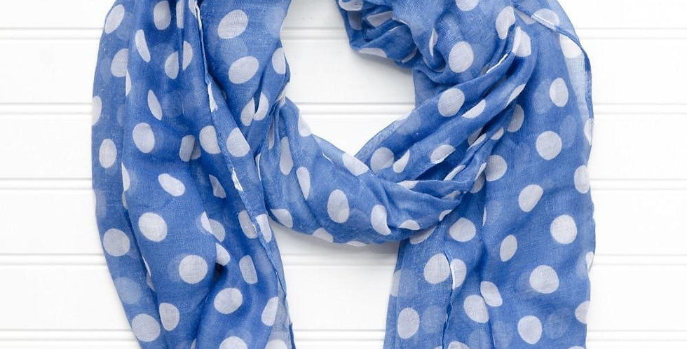 Polka Dot Scarf (Royal)