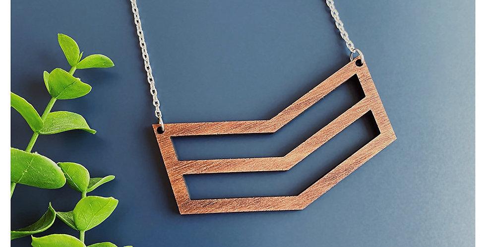 Double Chevron Necklace - Alder