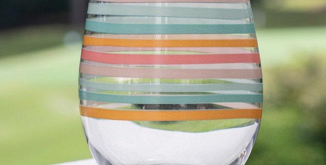 Stemless Wine Glass -Swept Away