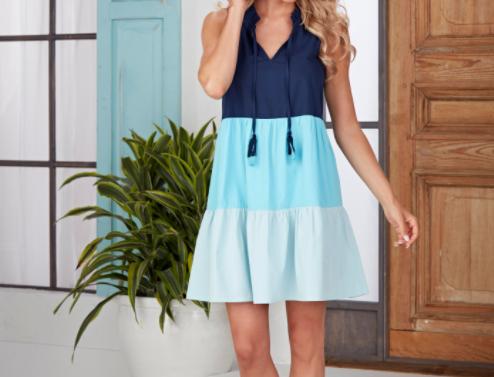 McKenna Color-Block Dress