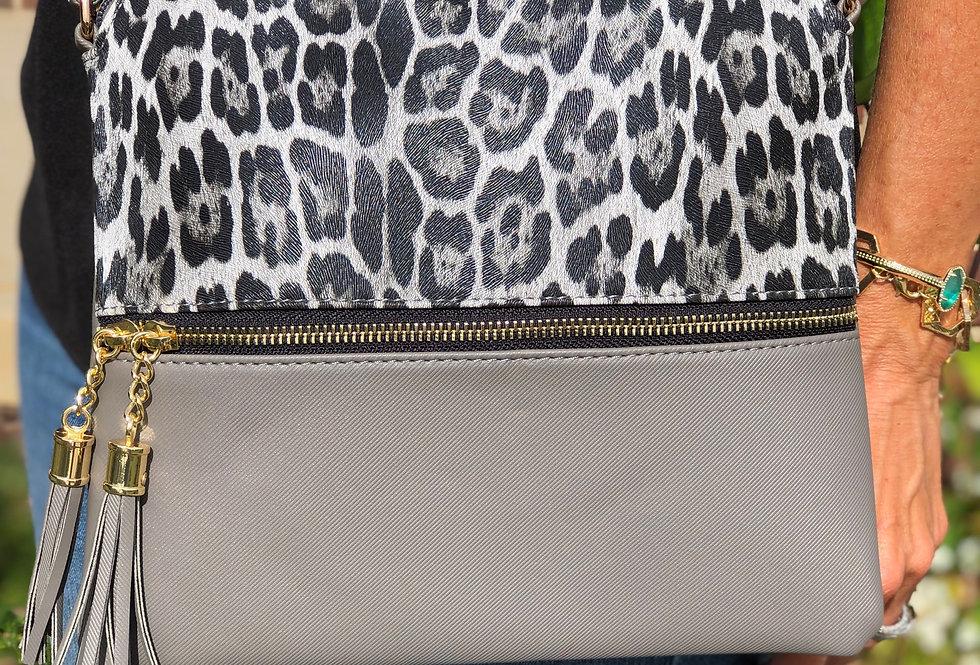 Leopard Crossbody - Gray