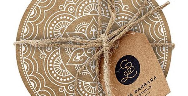 Cardboard Coasters - Medallion