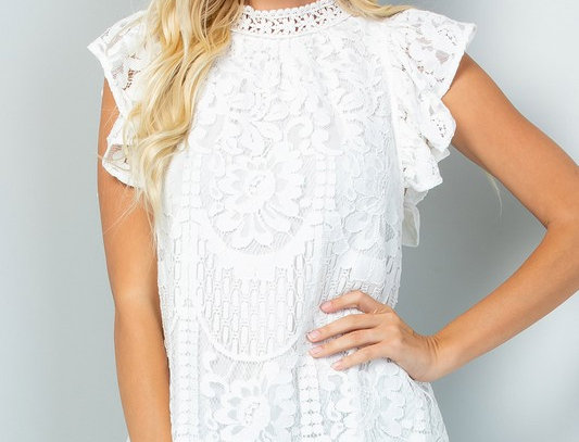 Lace Top - White