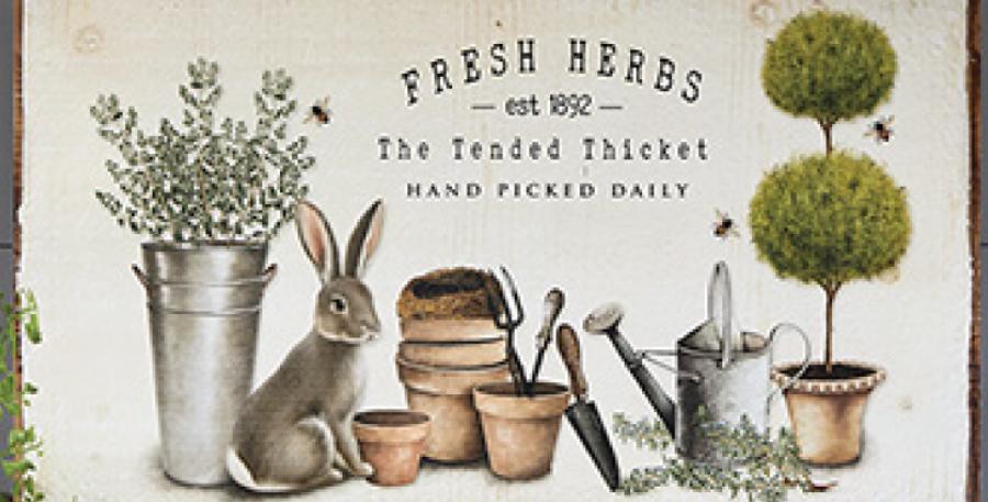 Rabbit and Herb Print
