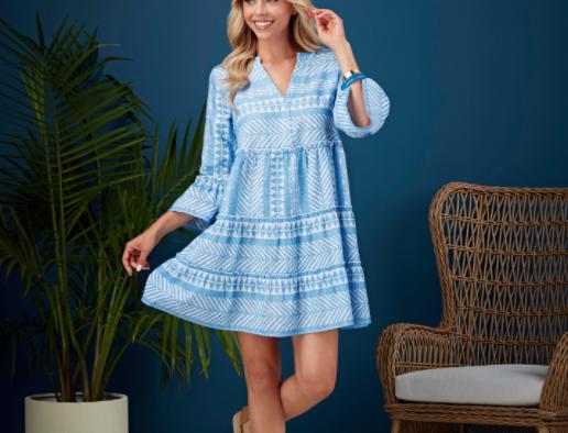 Renee Dress - Blue