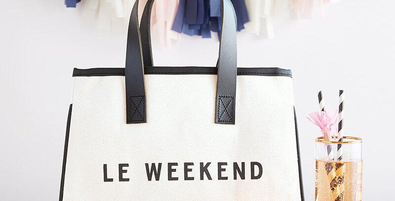 Canvas Tote - Le Weekend