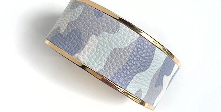 Monroe Cuff Bracelet (Gray Camo)