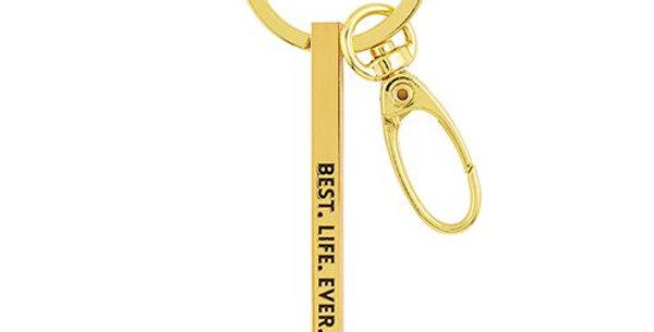 Gold Key Ring - Best Life Ever