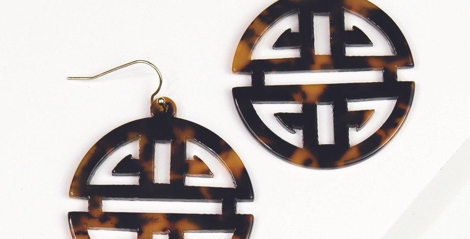 Grayling Earrings (Dark Tortoise)