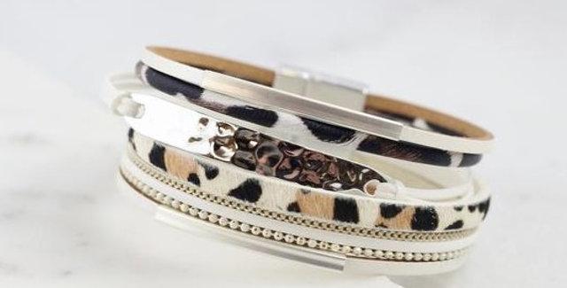 Multi Strand Animal Print Bracelet