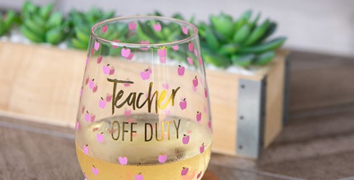 Stemless Wine Glass - Teacher Off Duty