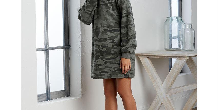 Sweatshirt Dress - Camo