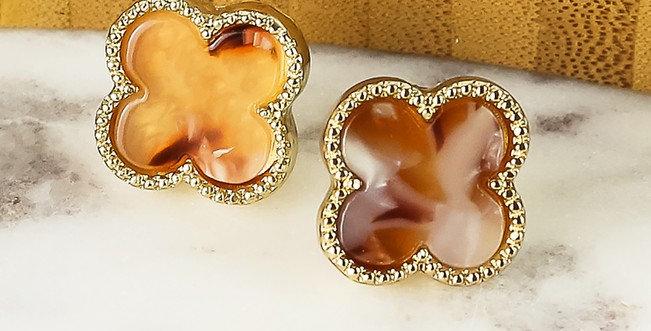 Seabrook Earrings (Light Tortoise)