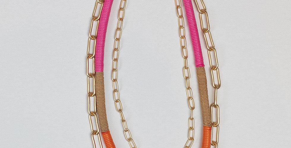 Arlo Necklace - Pink/Orange