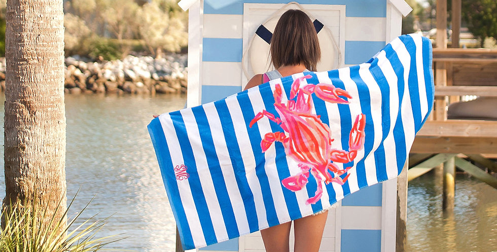 Crab Beach Towel