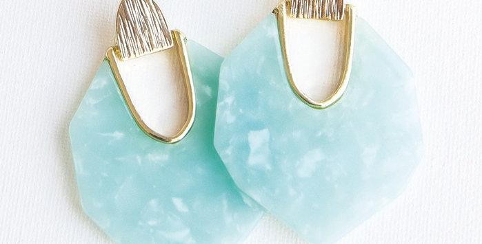 Lanier Earrings - Mint