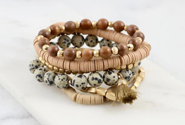 Dalmatian Stretch Bracelet Set