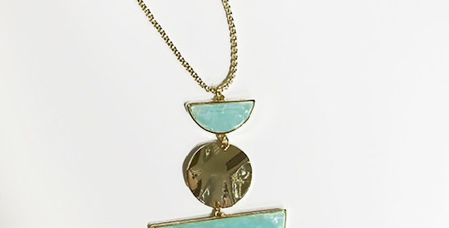 Acrylic Beseck Necklace - Mint