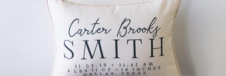 Birth Announcement Pillow