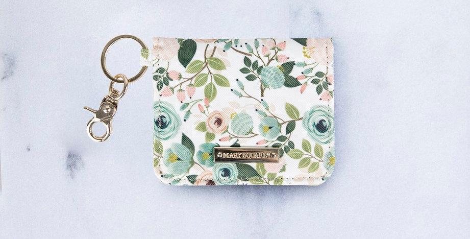 ID Wallet (Peach Floral)