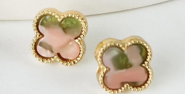 Seabrook Earrings (Blush Tortoise)